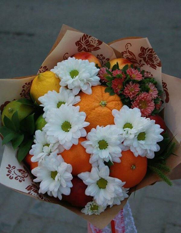 Цветы с фруктами своими руками в коробке 429